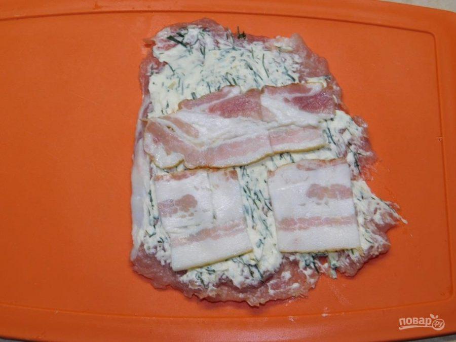 Свиные рулеты с сочной начинкой на углях - фото шаг 3
