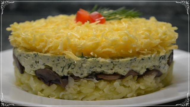 Фото к рецепту: Салат грибы под шубой