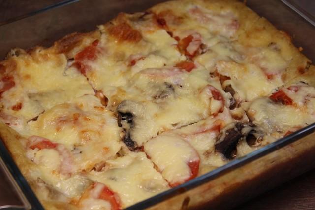 Фото к рецепту: Ленивая пицца