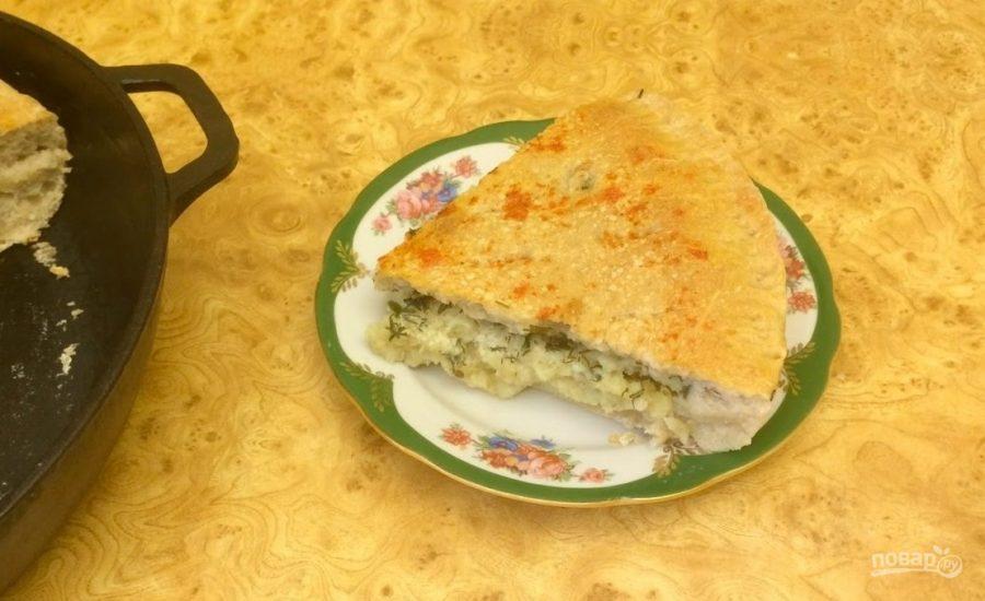Рыбный пирог на закваске - фото шаг 8