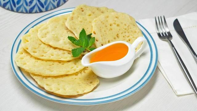 Фото к рецепту: Марокканские блины beghrir