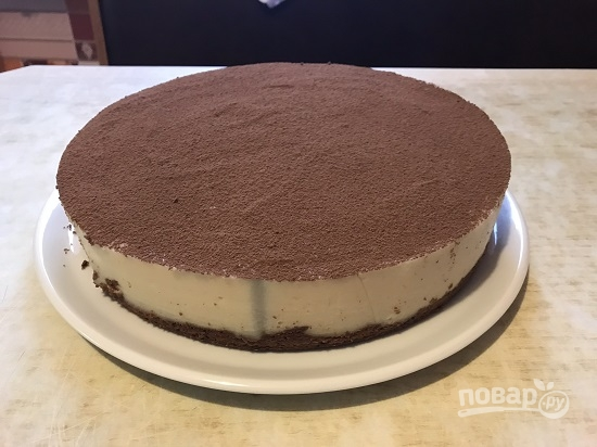 Шоколадный пирог с манно-грушевым муссом - фото шаг 16