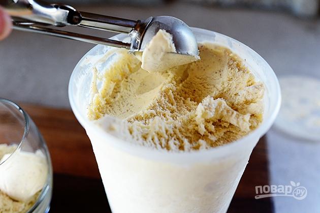 Ванильное мороженое с корицей - фото шаг 6