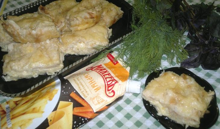 Экспресс-пирог с творожно-сырной начинкой#махеевънаприроде