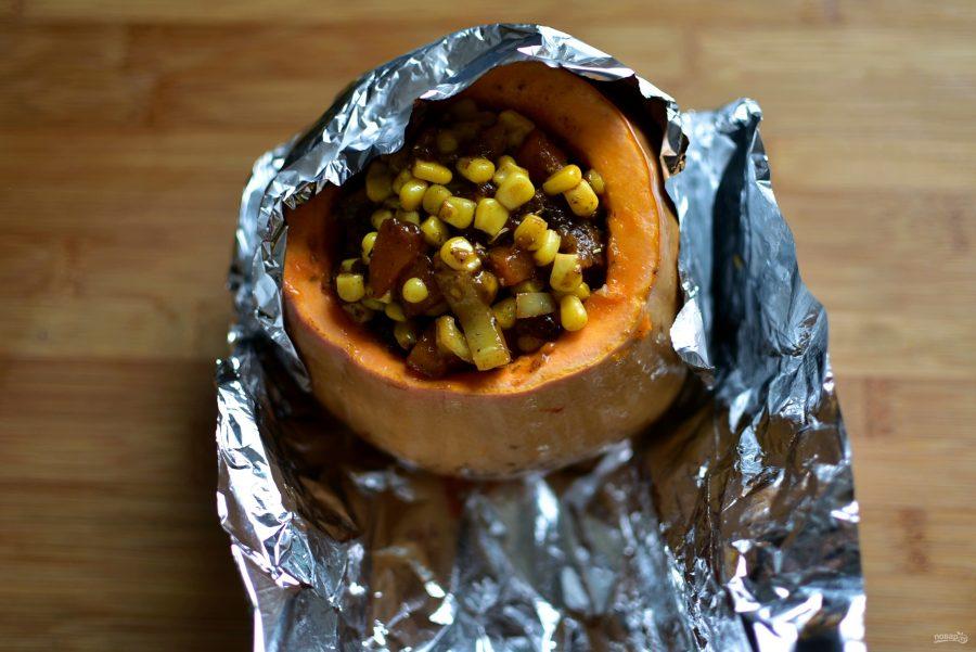 Рагу в тыкве из говядины с овощами по-аргентински - фото шаг 4