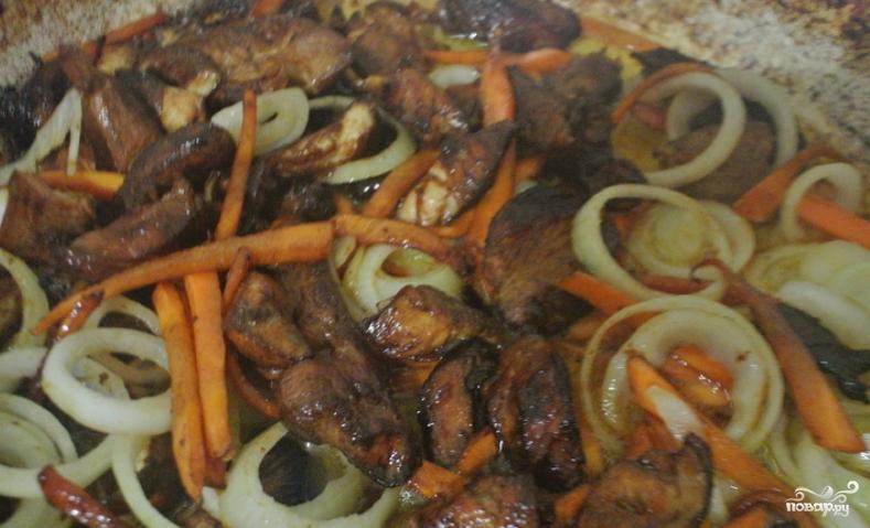 Жареный рис со свининой и овощами - фото шаг 4