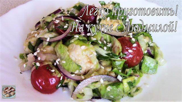 Фото к рецепту: Салат с курицей и овощами! легко приготовить!