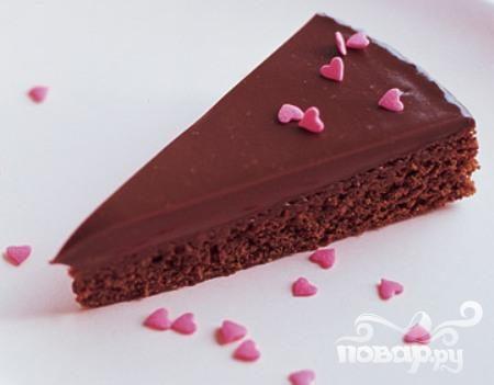 Шоколадные пирожные с глазурью