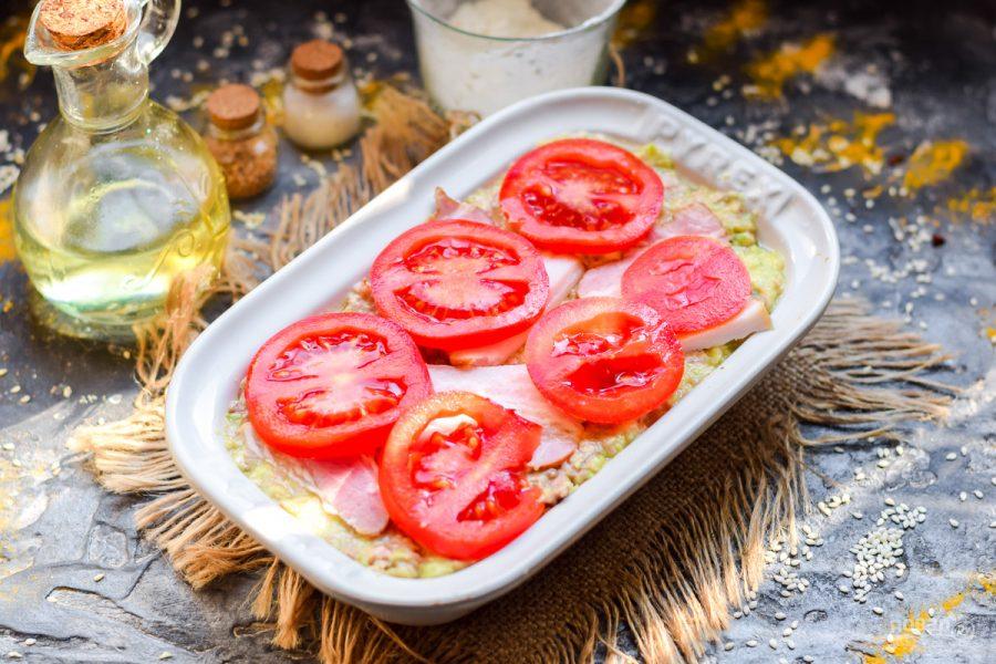 Запеканка из кабачков с фаршем и помидором - фото шаг 6