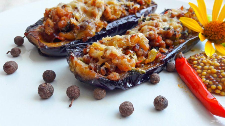 Баклажаны, фаршированные овощами, мясом и орехами - фото шаг 5