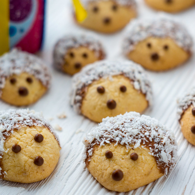 Фото к рецепту: Песочное печенье ёжики
