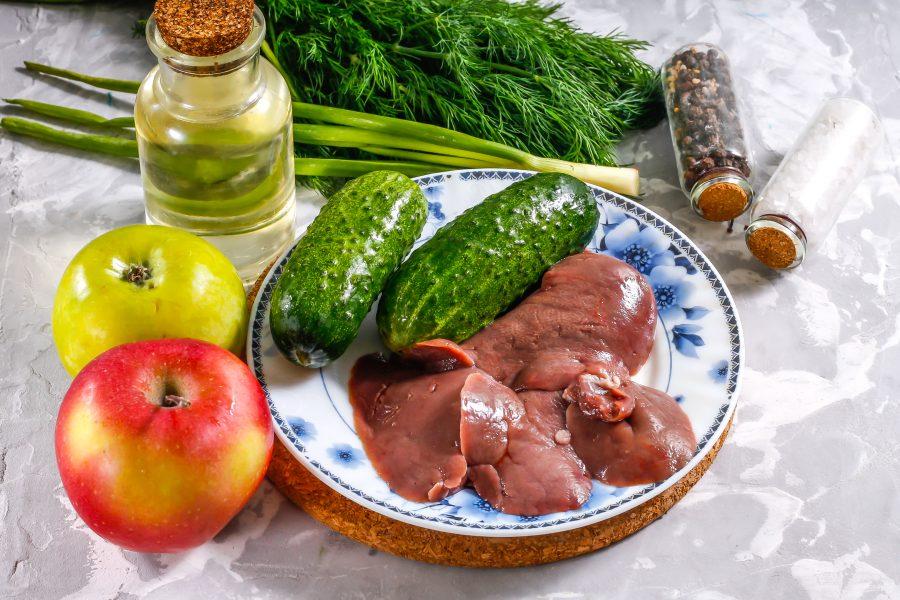 Салат с утиной печенью - фото шаг 1