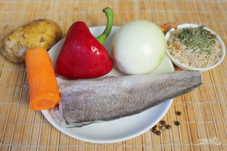 Рыбный суп с бурым рисом - фото шаг 1