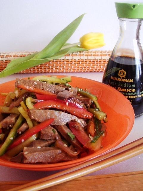 Фото к рецепту: Салат с языком по-китайски