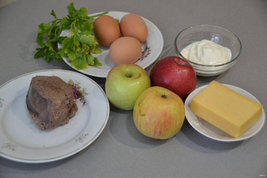 Салат из печени с яблоком - фото шаг 1