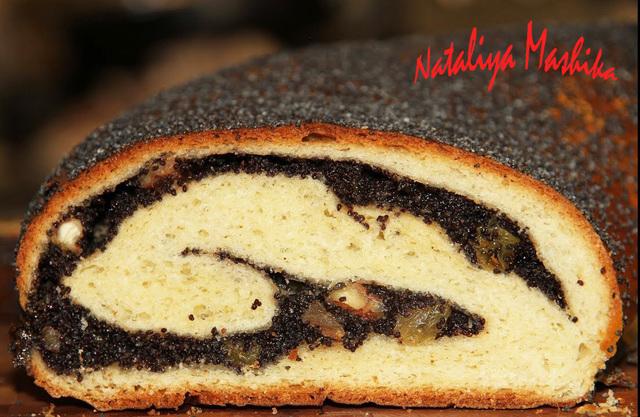 Фото к рецепту: Венгерский маковый рулет.чудо-рецепт!невероятно вкусный рулет!