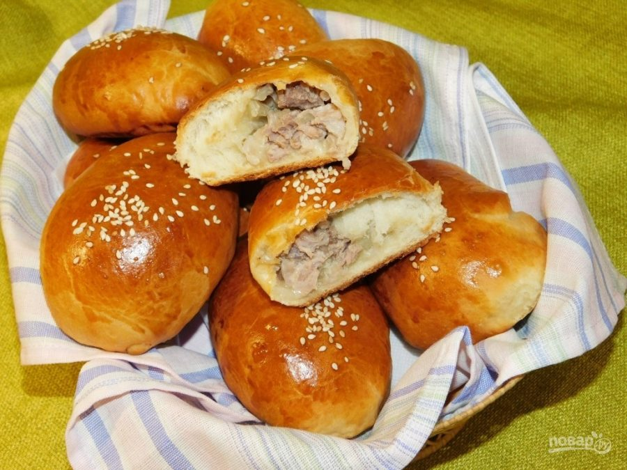 Пирожки с рубленым мясом - фото шаг 7