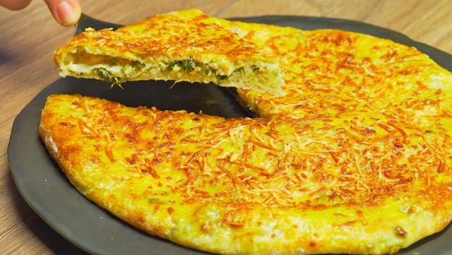 Фото к рецепту: Сырный пирог с зеленью и творогом