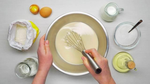 Фото к рецепту: Тесто для блинов