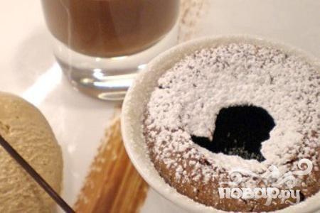 Теплый шоколадный пирог
