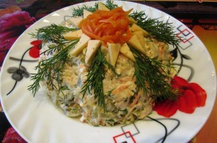 Фото к рецепту: Салат «лисичка»