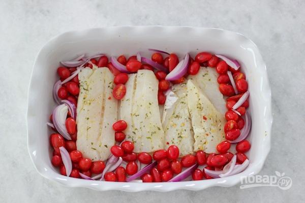 Запеченная треска с томатами - фото шаг 4