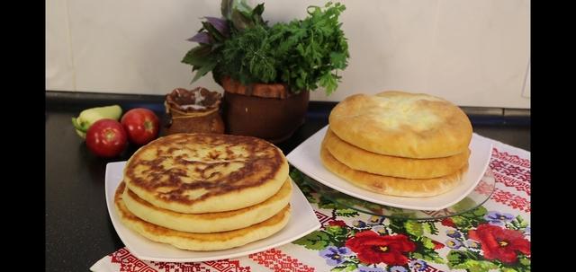Фото к рецепту: Пироги с сыром на сковороде