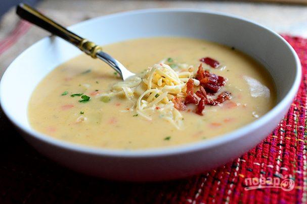Картофельный крем-суп с зеленью
