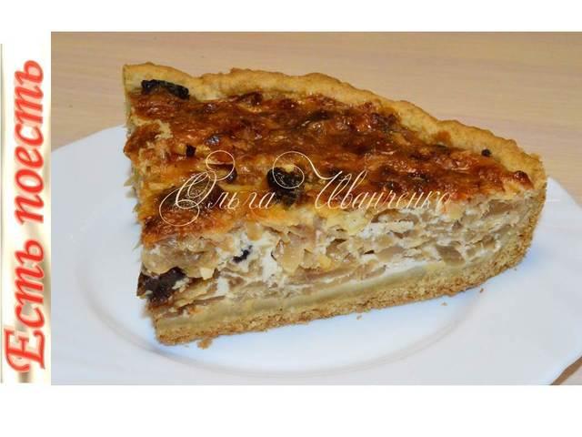 Фото к рецепту: Капустный пирог с заливкой