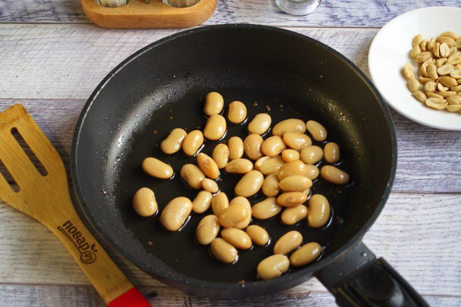 Говядина с лапшой и фасолью - фото шаг 5