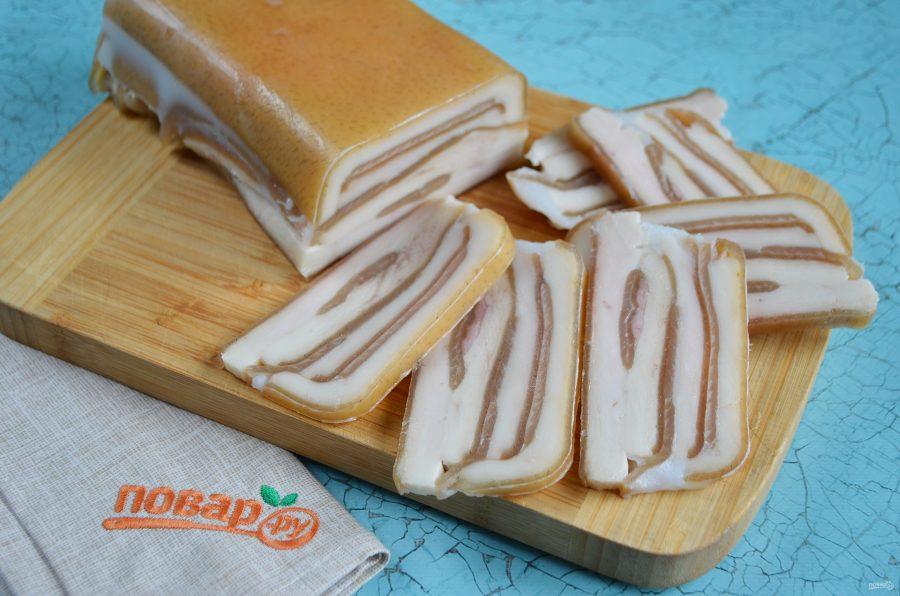 Деликатес из свиных шкурок - фото шаг 5