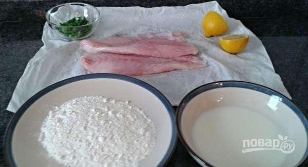 Филе окуня на сковороде - фото шаг 1