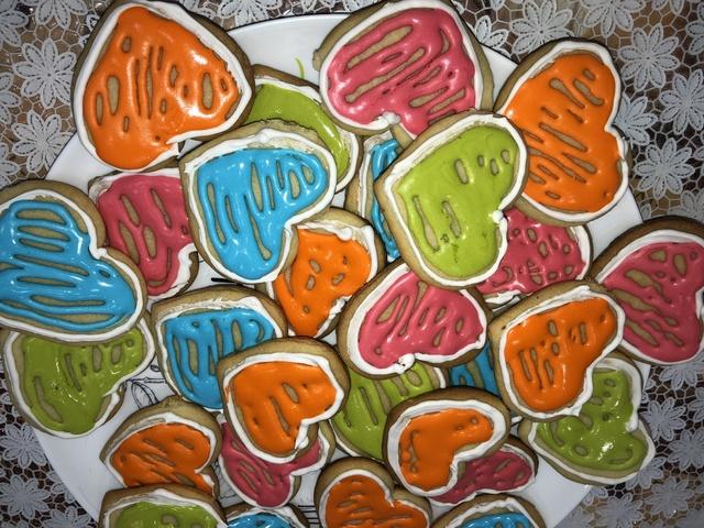 Фото к рецепту: Печенье валентинки