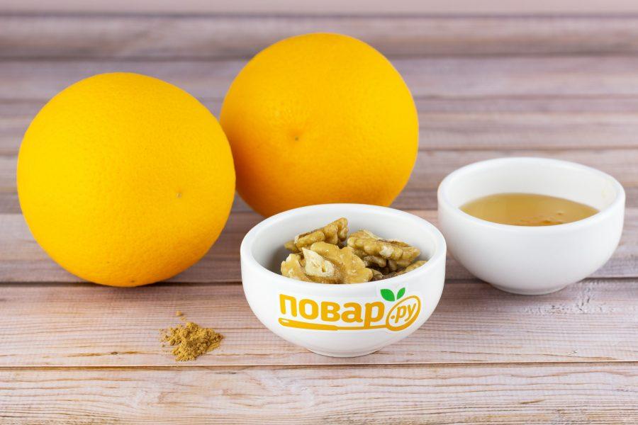Апельсин в духовке с медом и корицей - фото шаг 1