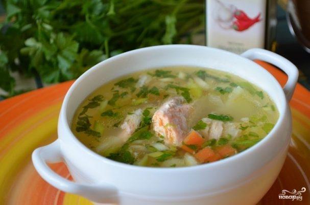 Рыбный суп с семгой