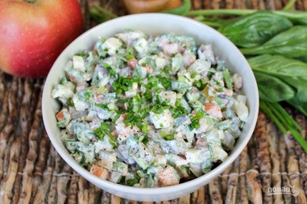 Салат из свиных почек