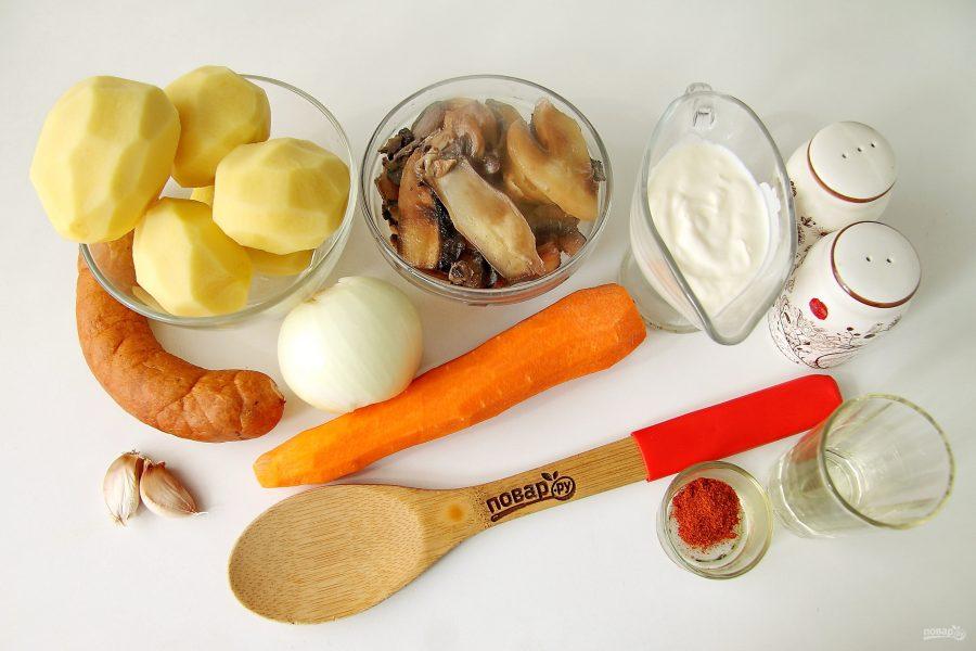Рагу с краковской колбасой - фото шаг 1