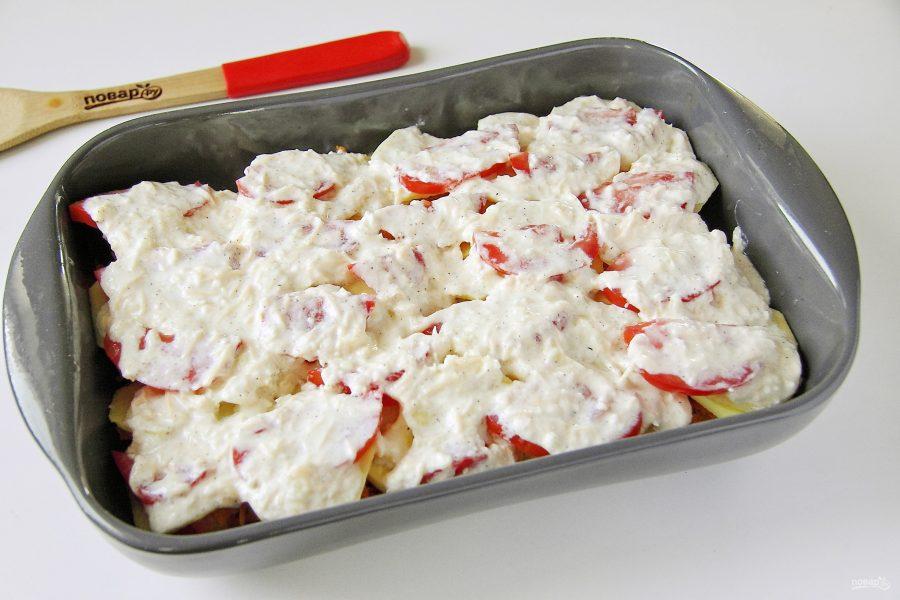 Тунец с картошкой в духовке - фото шаг 8