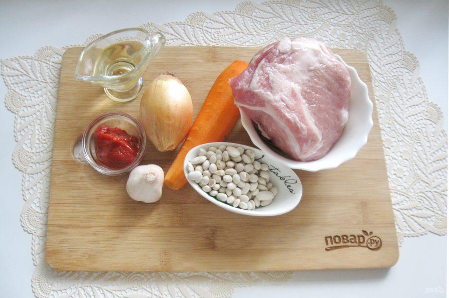 Свинина с фасолью в томатном соусе - фото шаг 1