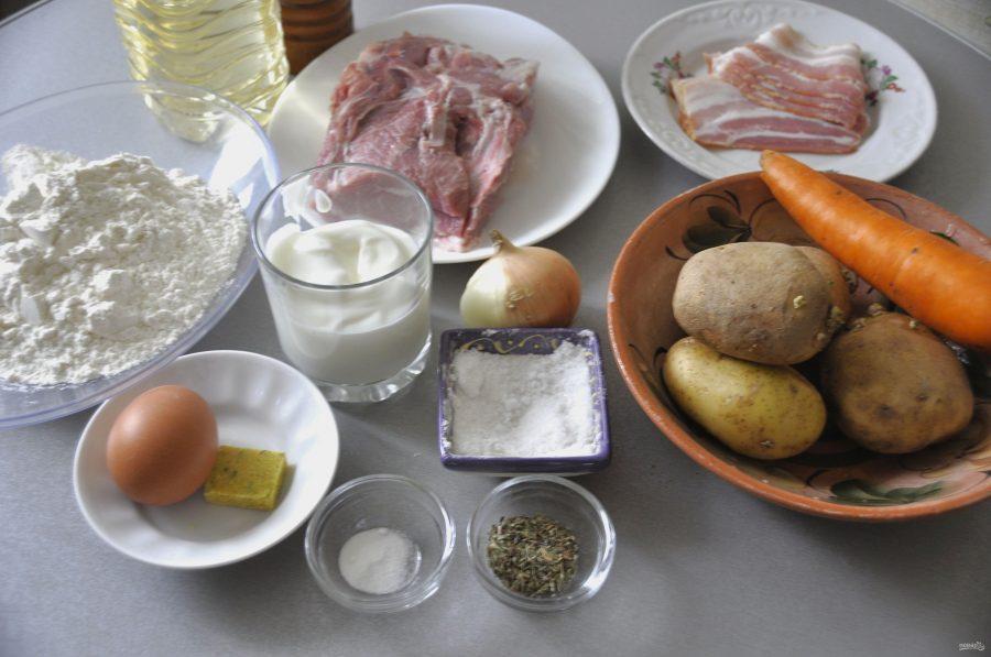 Штрудли с картофелем и мясом - фото шаг 1