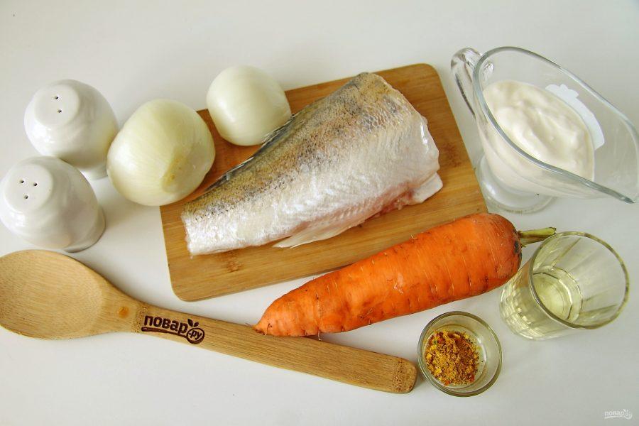 Рыба с морковью и луком в духовке - фото шаг 1
