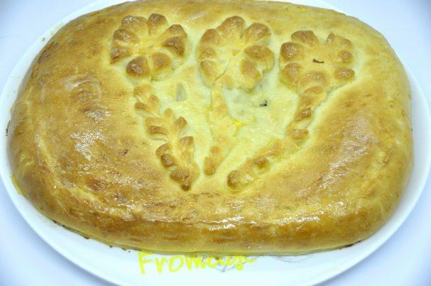 Пирог с зубаткой