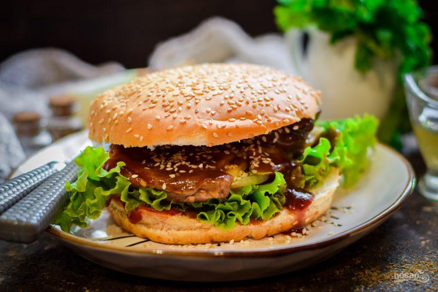 Сэндвичи с глазированной свининой - фото шаг 13