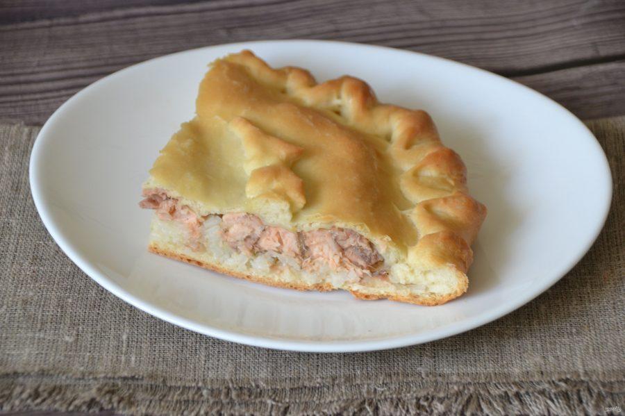Пирог с рисом и горбушей - фото шаг 17