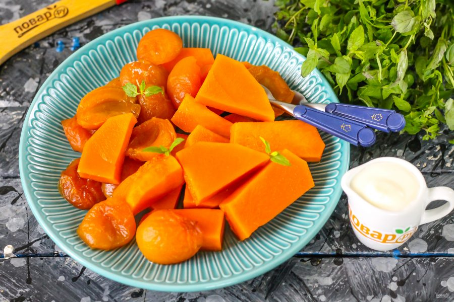 Тыква с абрикосами - фото шаг 7
