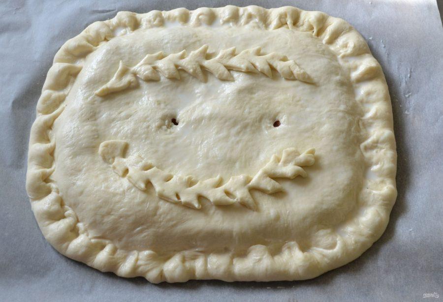 Пирог с рисом и горбушей - фото шаг 15