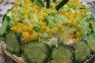 Салат из курицы с ананасом и огурцом