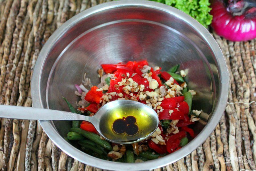 Салат из говядины с фасолью - фото шаг 7