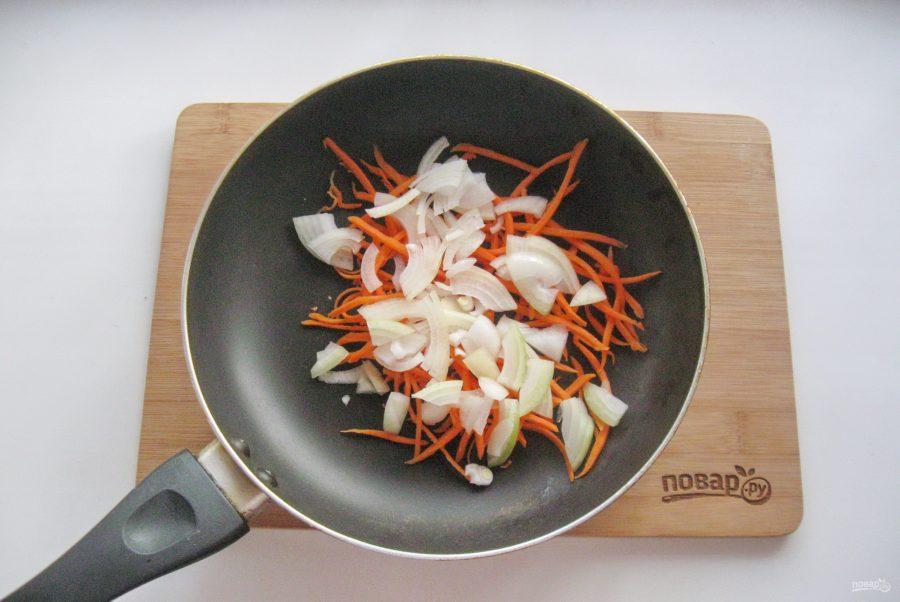 Салат с кальмарами и спаржевой фасолью - фото шаг 3