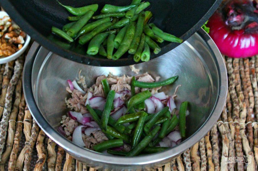 Салат из говядины с фасолью - фото шаг 4
